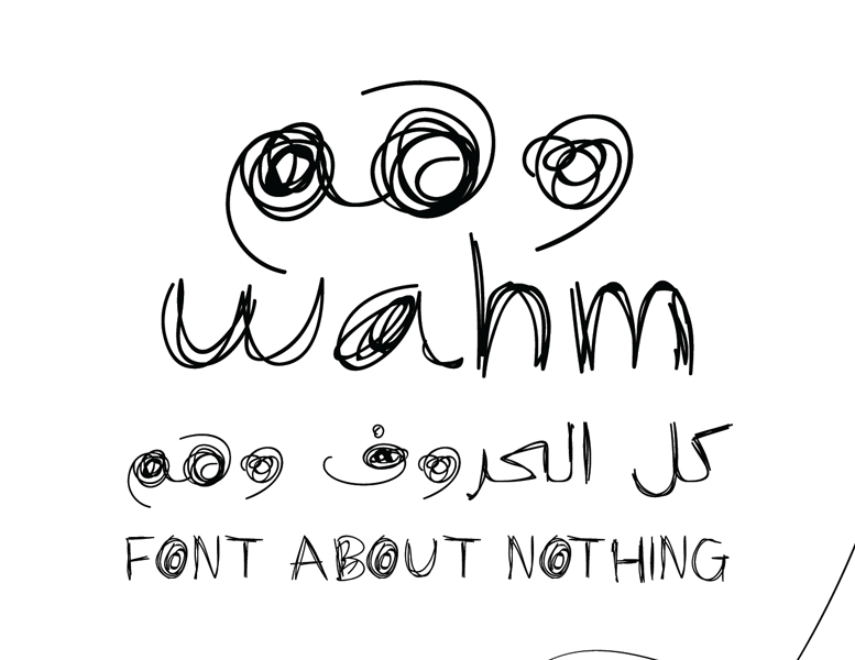 Wahm One Typeface